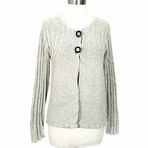 Anthropologie's Mermaid Gray Two Button Cardigan S